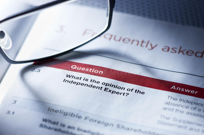 Business Question Opinion Advice royalty free stock photography