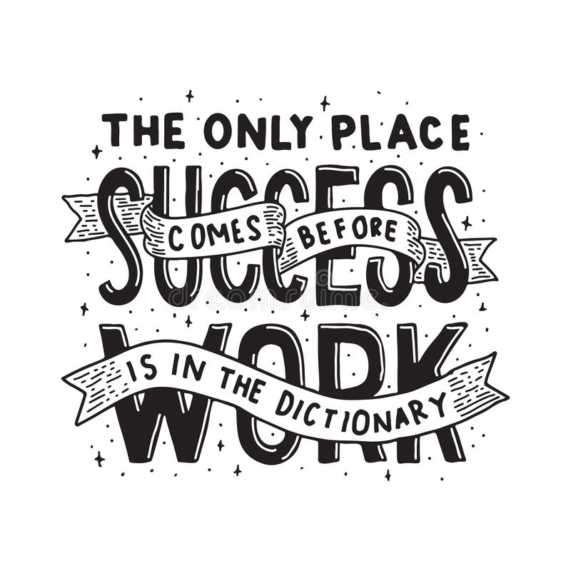 Business Quote and saying good for print design royalty free illustration