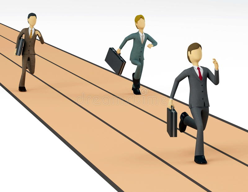 Download Business Race stock illustration. Illustration of humor - 12677015