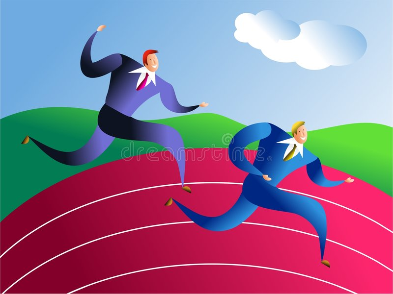 Business race stock illustration