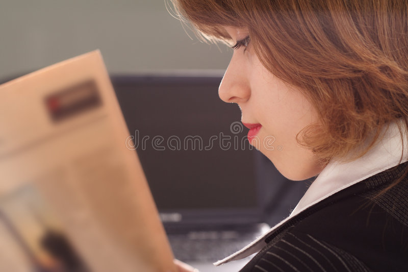 Business read stock image