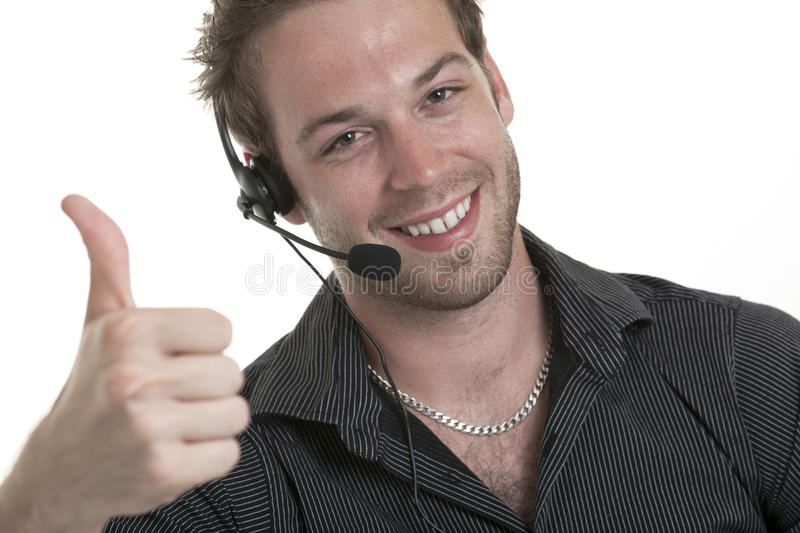 Business receptionist men of 30 years old. A business receptionist man of 30 years old royalty free stock images