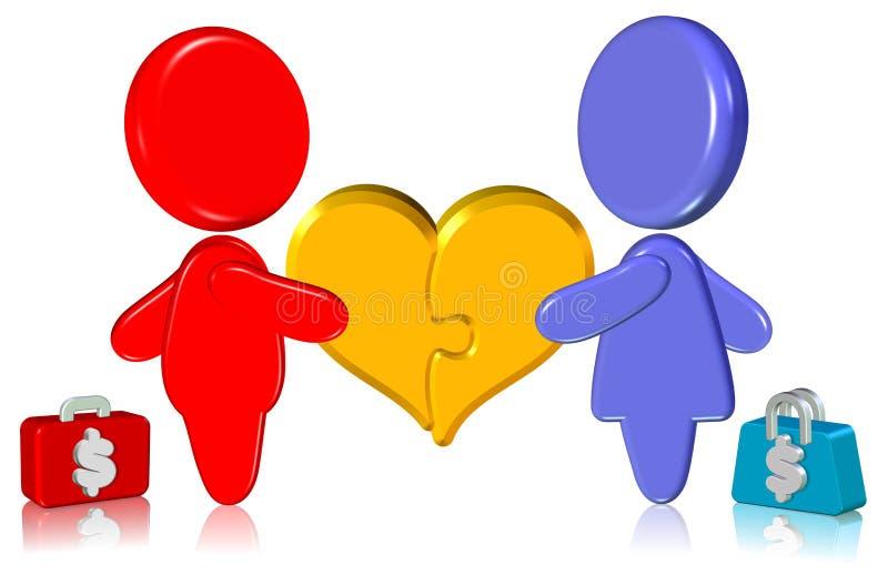 Download Business Relationship stock illustration. Illustration of jigsaw - 24539993