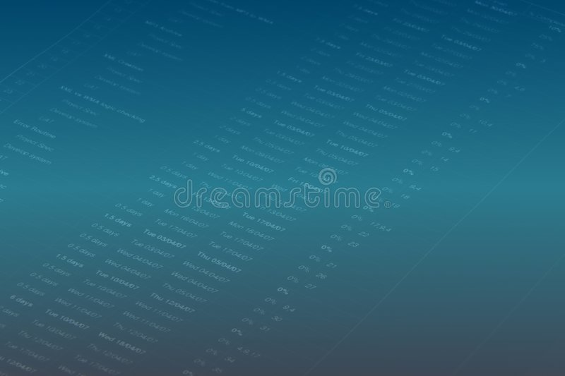 Business Report. Close up of a business report stock photos