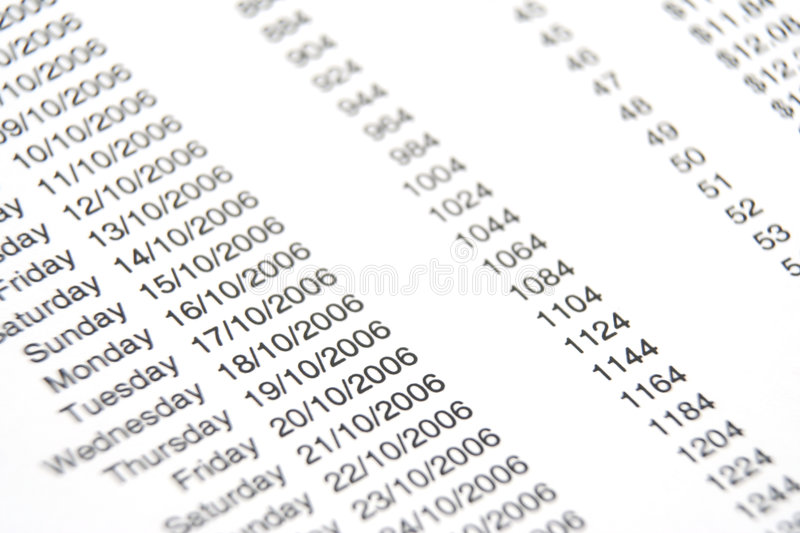 Business Report. Close up of a business report stock photo