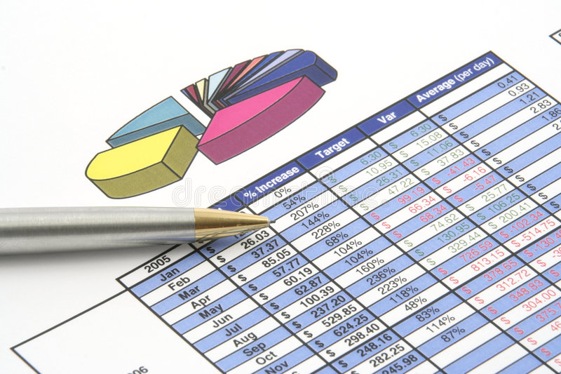 Business Report. Close up of a business report stock photography