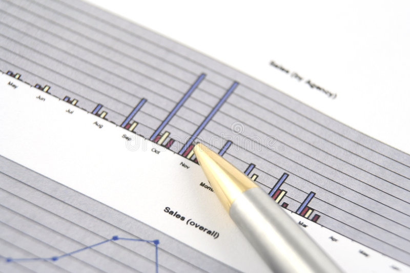 Business Report. Close up of a business report royalty free stock photo