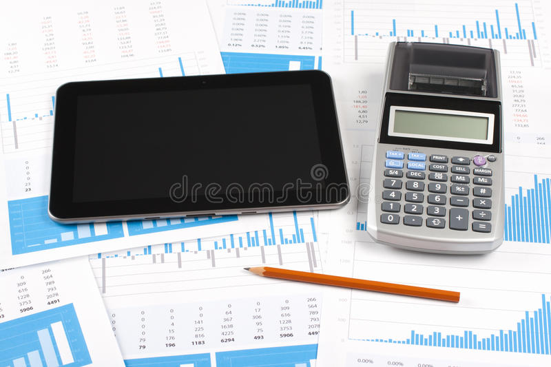 Business report analysis royalty free stock photography