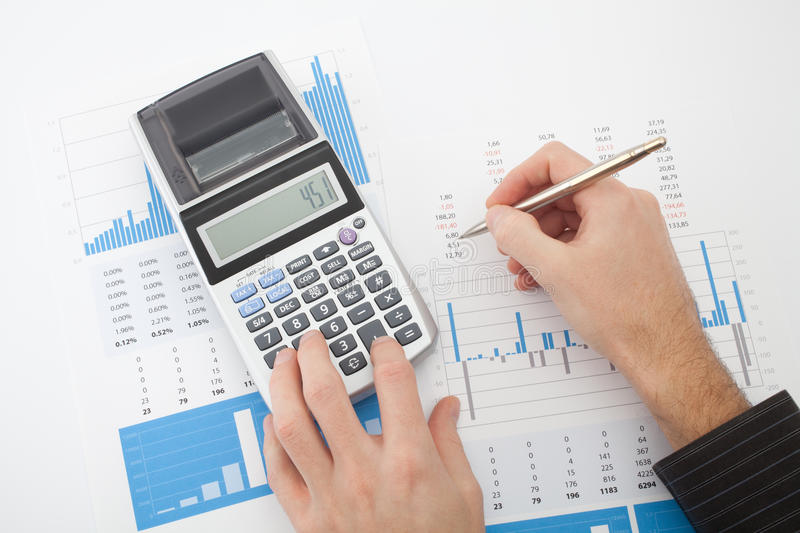 Business report analysis stock images