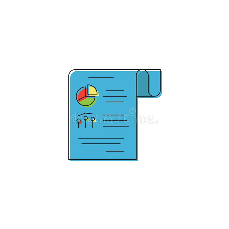 Business report symbol. Statistics And Analytic vector isolated on white background. Eps10 stock illustration