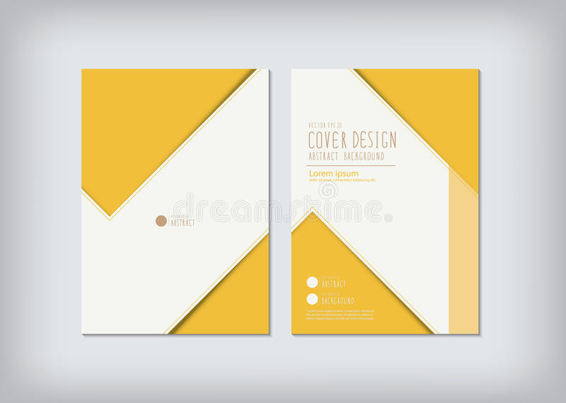 Business report zigzag design cover. Vector for product or organization stock illustration