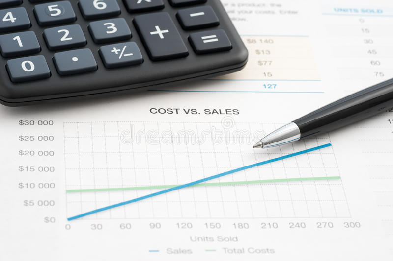 Business reports sales royalty free stock image