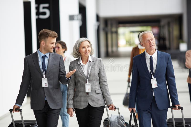 Business representatives arriving at global forum royalty free stock photography