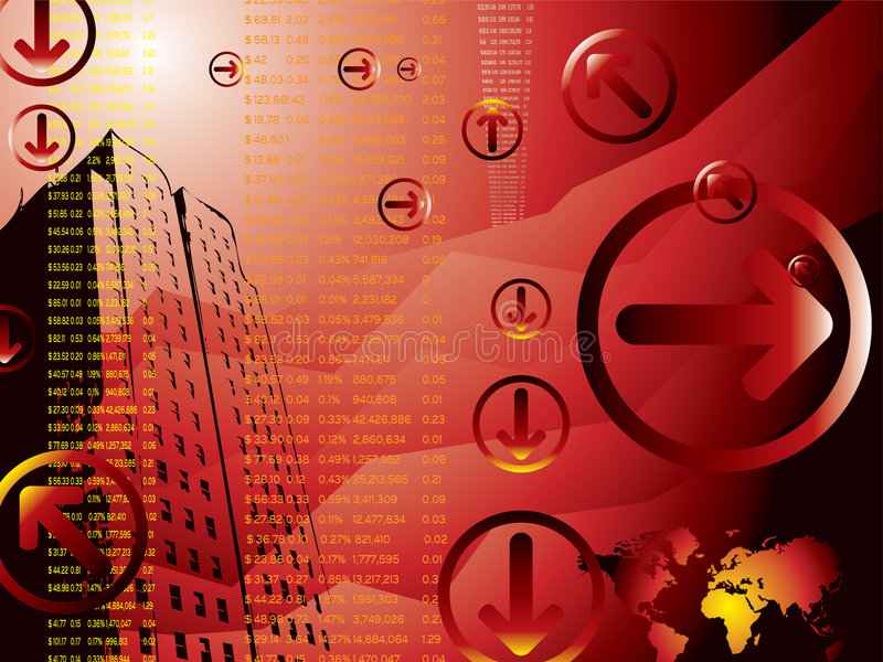 Business results red vector illustration
