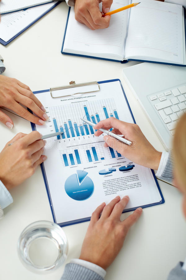 Business review royalty free stock images