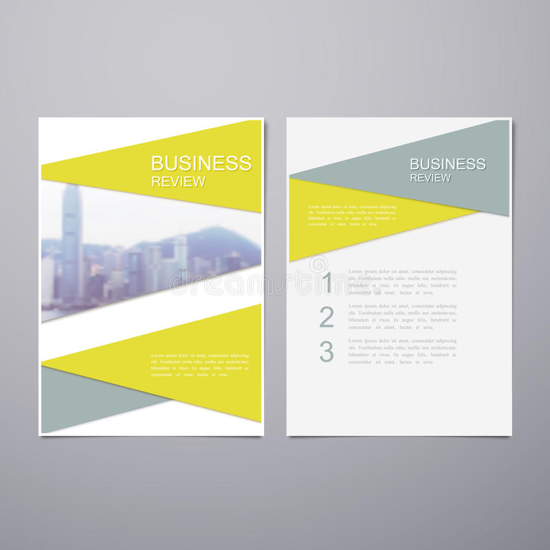 Business Review Brochure Stock Vector Illustration Of Marketing