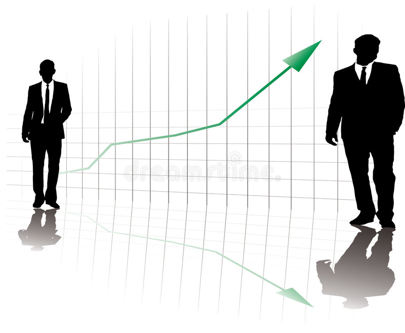 Business on the rise vector illustration