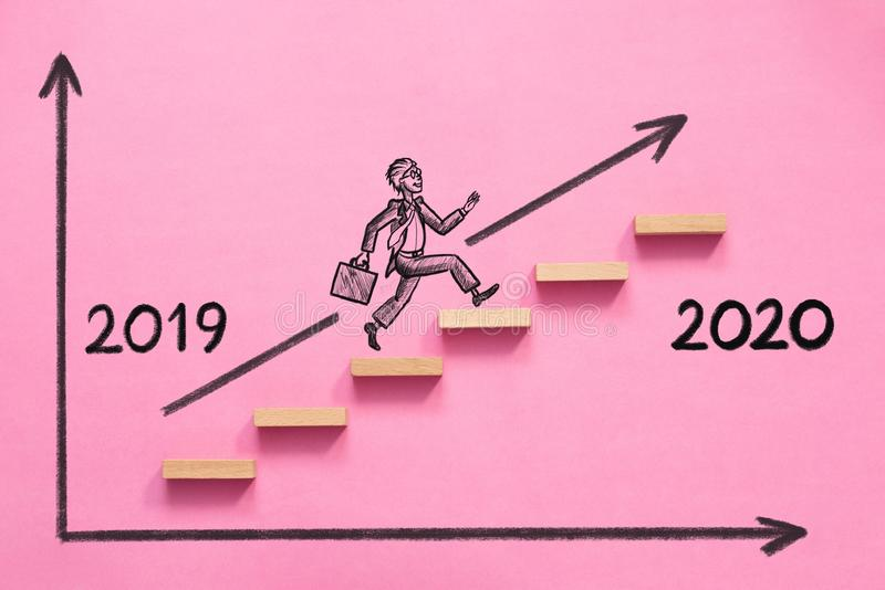 Business Risk And Challenge Concept For 2020. Business Risk And Challenge Concept For New Year 2020 stock illustration
