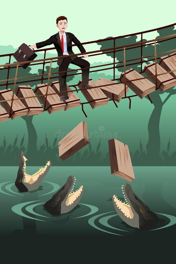 Business risk concept royalty free illustration