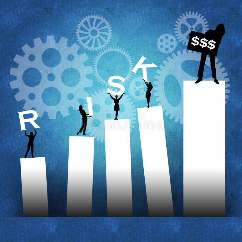 Business risk leading to success stock photos