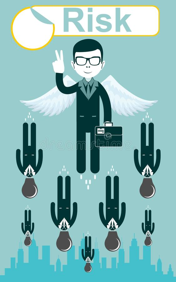 Business risks. Vector royalty free illustration