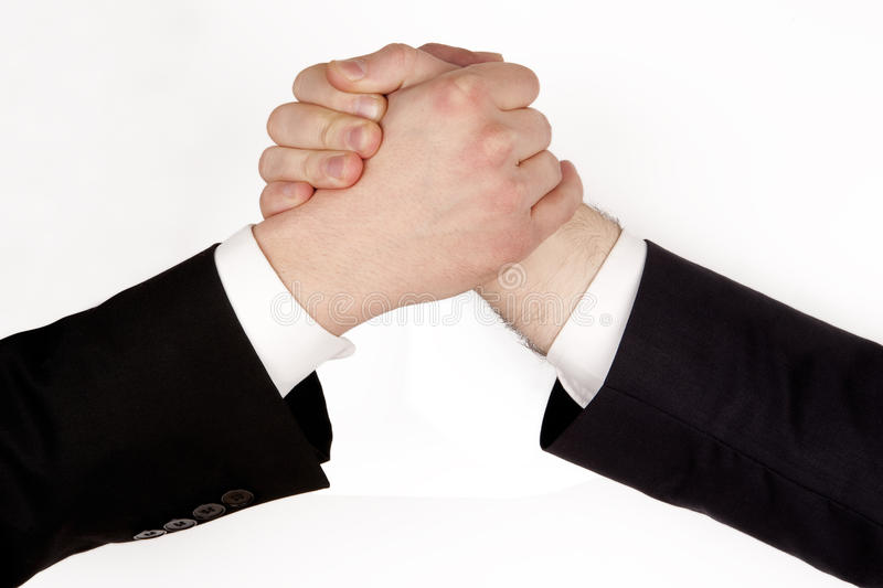 Business rivalry royalty free stock images