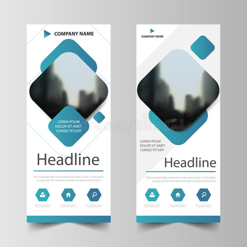 Business Roll Up Banner flat design template ,Abstract Geometric banner template Vector illustration set, abstract presentation stock illustration