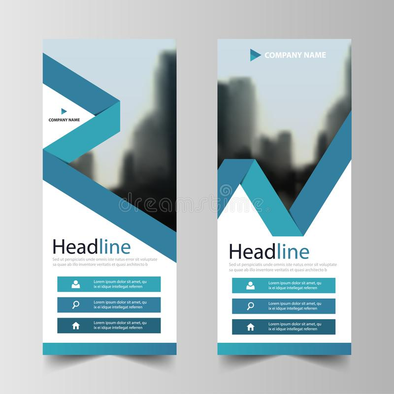 Business Roll Up Banner flat design template ,Abstract Geometric banner template Vector illustration set, abstract presentation. Brochure flyer template royalty free illustration