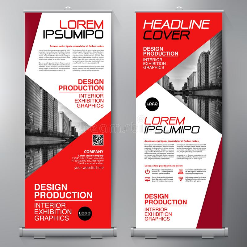 Business Roll Up. Standee Design. Banner Template. Presentation. And Brochure Flyer. Vector illustration vector illustration