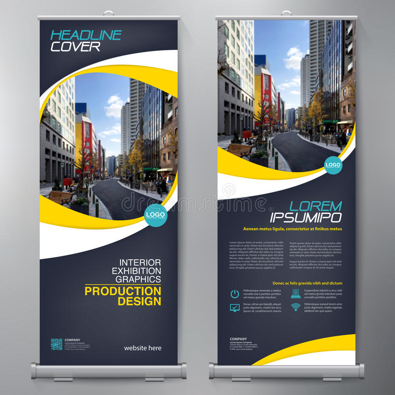 Business Roll Up. Standee Design. Banner Template. vector illustration