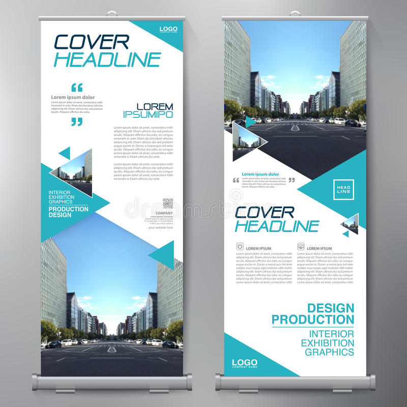 Business Roll Up. Standee Design. Banner Template. Presentation and Brochure Flyer. Vector illustration vector illustration