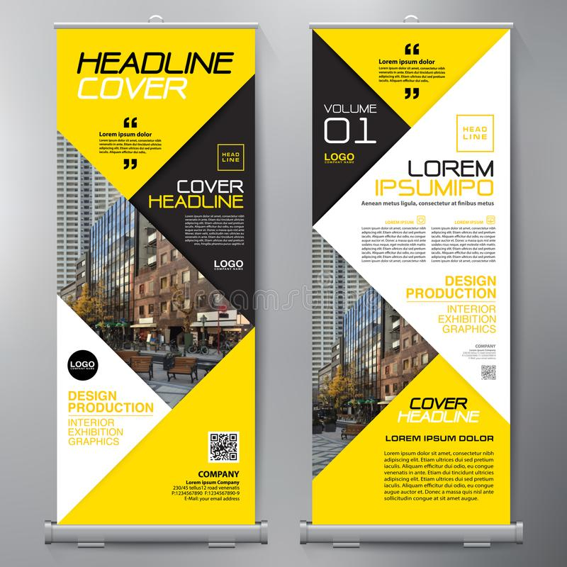 Business Roll Up. Standee Design. Banner Template. Presentation royalty free illustration