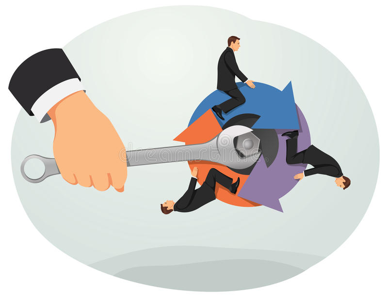 Business rotation vector illustration