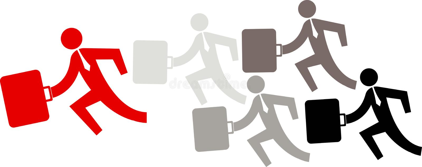 Business running. Illustration art of a business running with isolated background vector illustration