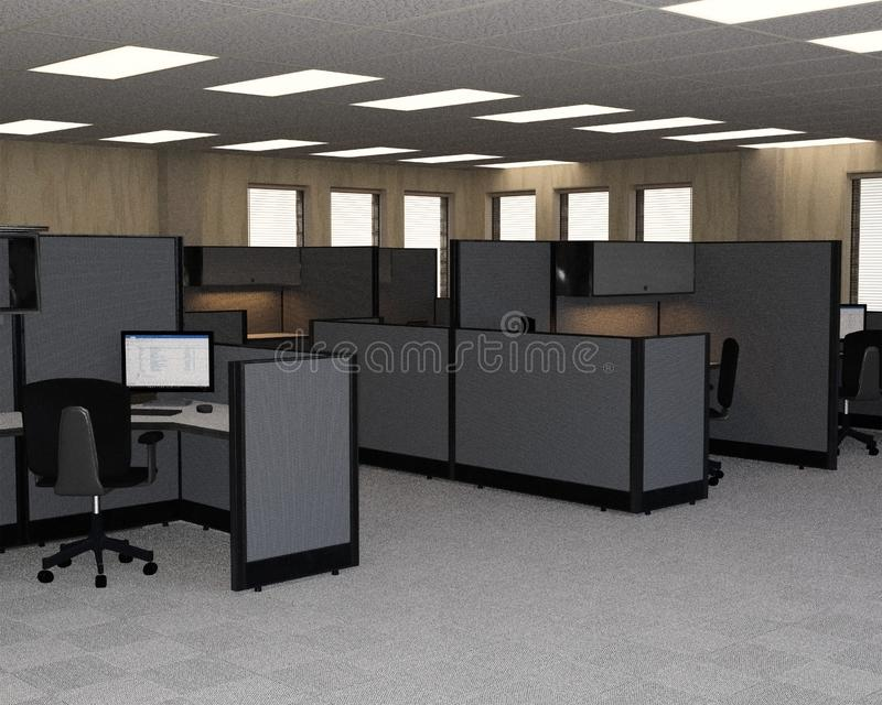 Business Sales Office, Cubicles, Cubes royalty free stock image