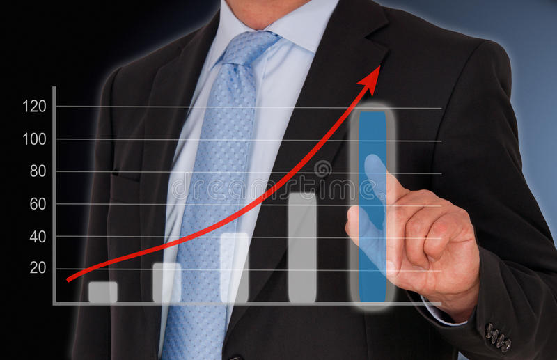 Business and Sales Performance uptake chart royalty free stock photography