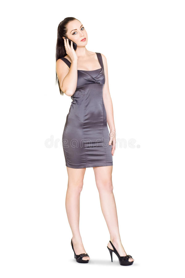 Business Sales Rep Communicating On Mobile Phone Royalty Free Stock Image