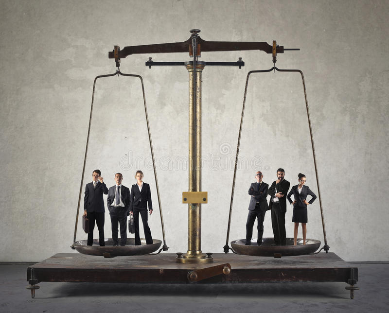 Business scale stock photos