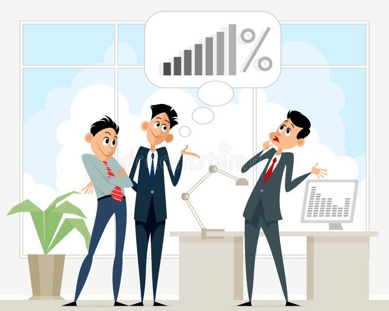 Business scene in office stock illustration