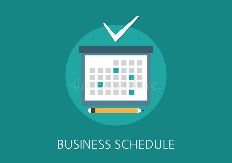 Business schedule concept flat icon royalty free illustration