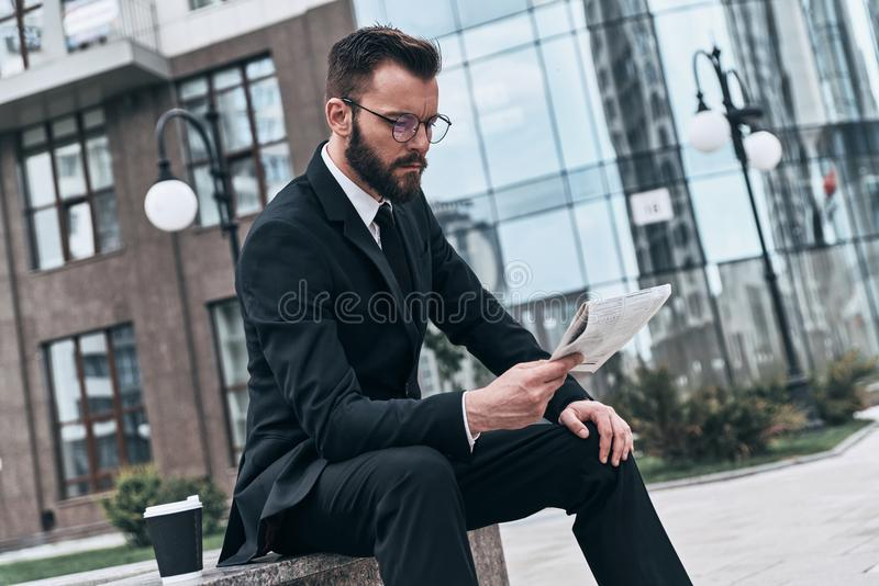 Business section. royalty free stock image