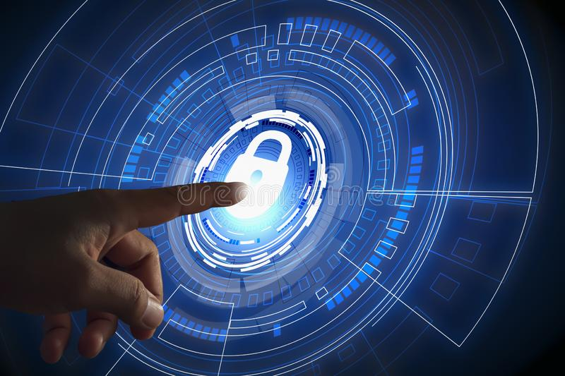 Business security data protection technology Blockchain Cyber Security Technology that brings the concept of security and stock images