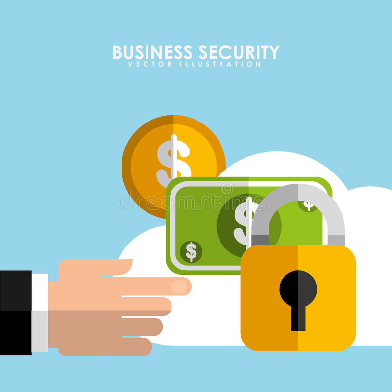 Business security design. Vector illustration eps10 graphic stock illustration
