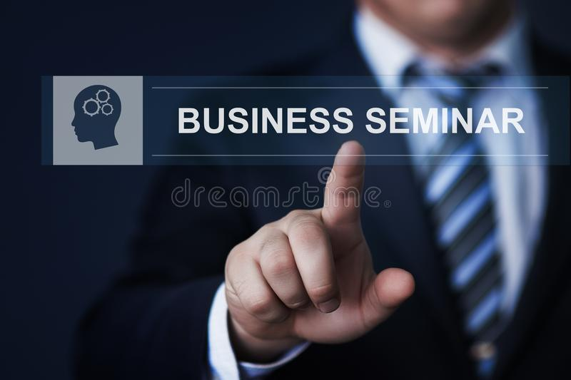 Business Seminar Webinar Corporate Training Education Knowledge Corporate Internet Technology Concept royalty free stock image