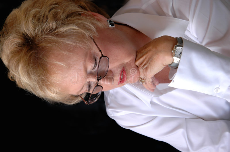 business senior thinking woman στοκ εικόνα με δικαίωμα ελεύθερης χρήσης