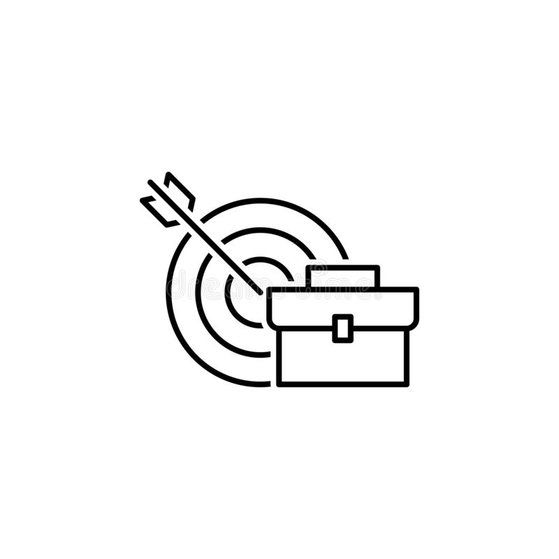 business seo, career line icon. Teamwork at the idea. Signs and symbols can be used for web, logo, mobile app, UI, UX royalty free illustration