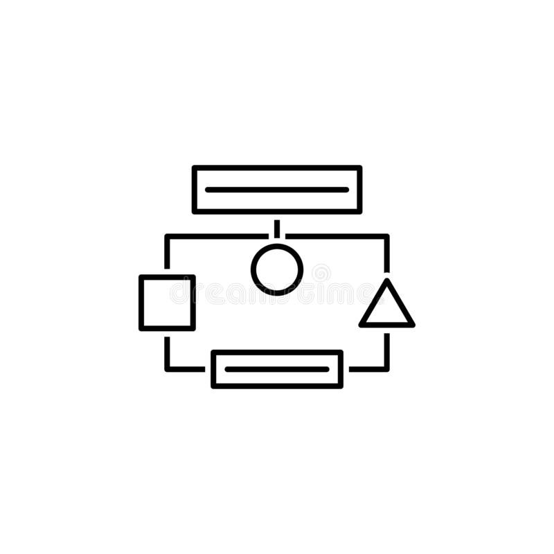 Business seo, diagram line icon. Teamwork at the idea. Signs and symbols can be used for web, logo, mobile app, UI, UX. On white background royalty free illustration