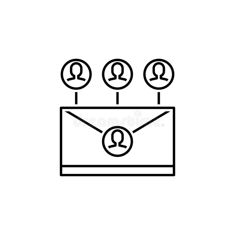 Business seo, intranet line icon. Teamwork at the idea. Signs and symbols can be used for web, logo, mobile app, UI, UX. On white background vector illustration