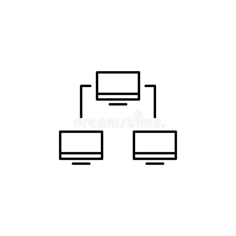 business seo, networking line icon. Teamwork at the idea. Signs and symbols can be used for web, logo, mobile app, UI, UX royalty free illustration