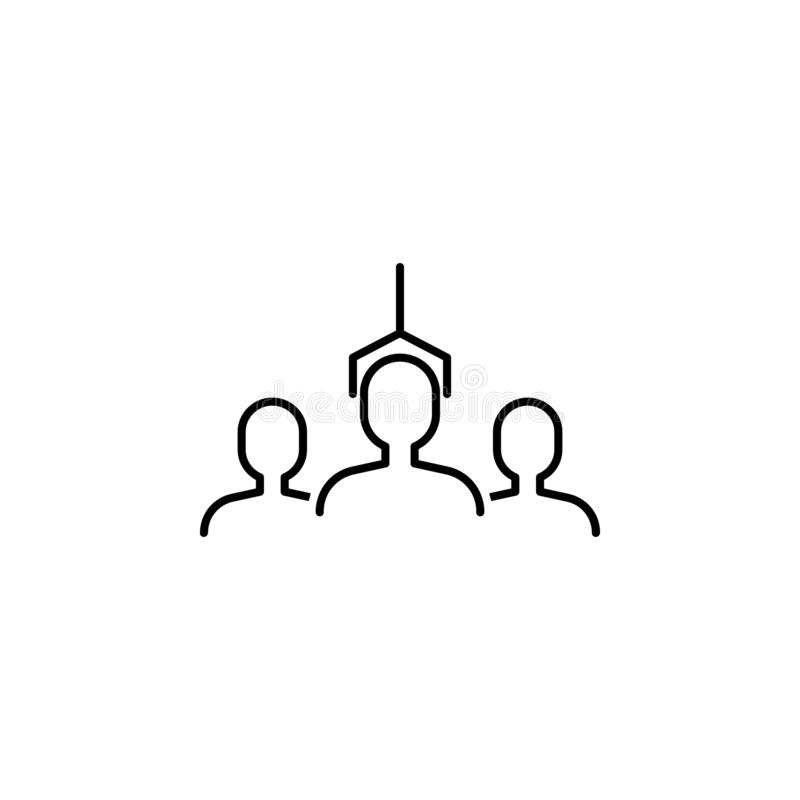 business seo, selection process line icon. Teamwork at the idea. Signs and symbols can be used for web, logo, mobile app, UI, UX stock illustration